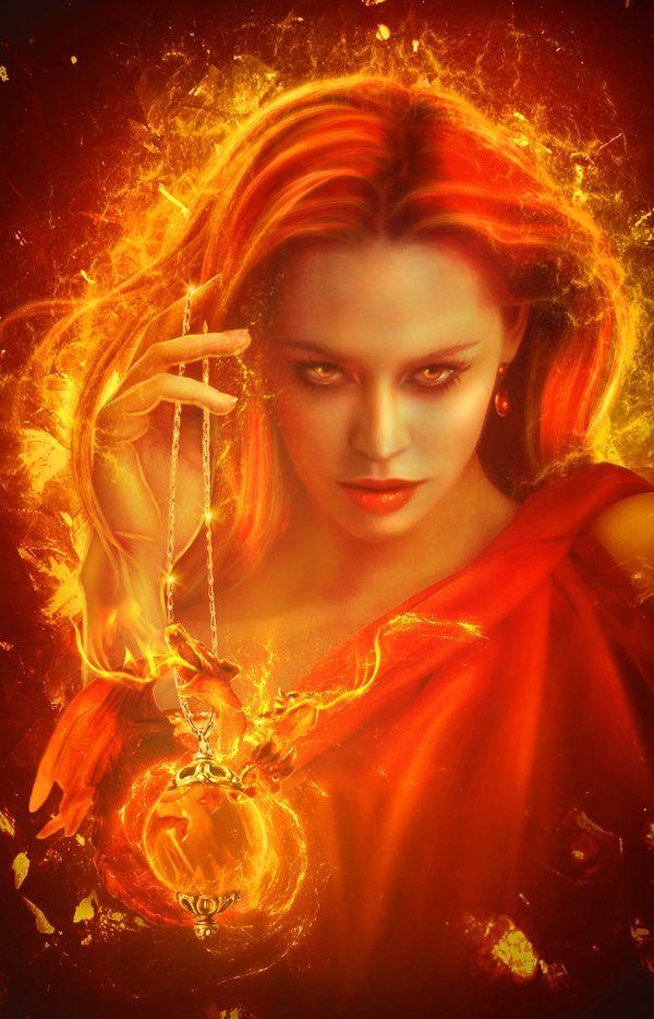 Image result for digital art fire goddess