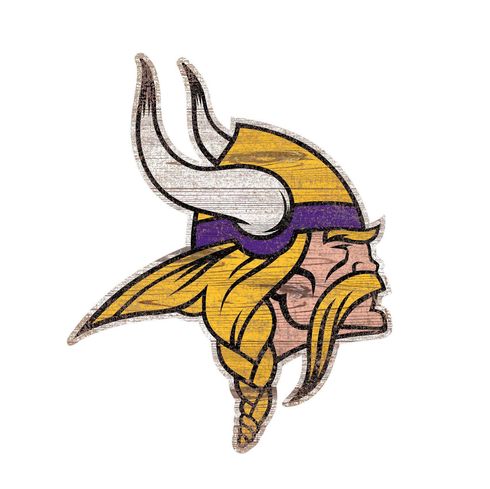 b75724aa0 Minnesota Vikings Distressed Logo Cutout 24