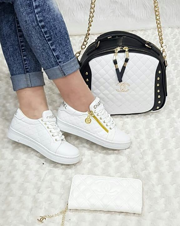 Chanel 2615 Canta Spor Ayakkabi Cuzdan Kombin Sneakers Fashion Women Shoes Kids Shoes