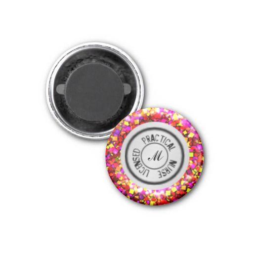 LPN Nursing Stethoscope Magnet, Glitter #zazzle #magnets #LPN ...