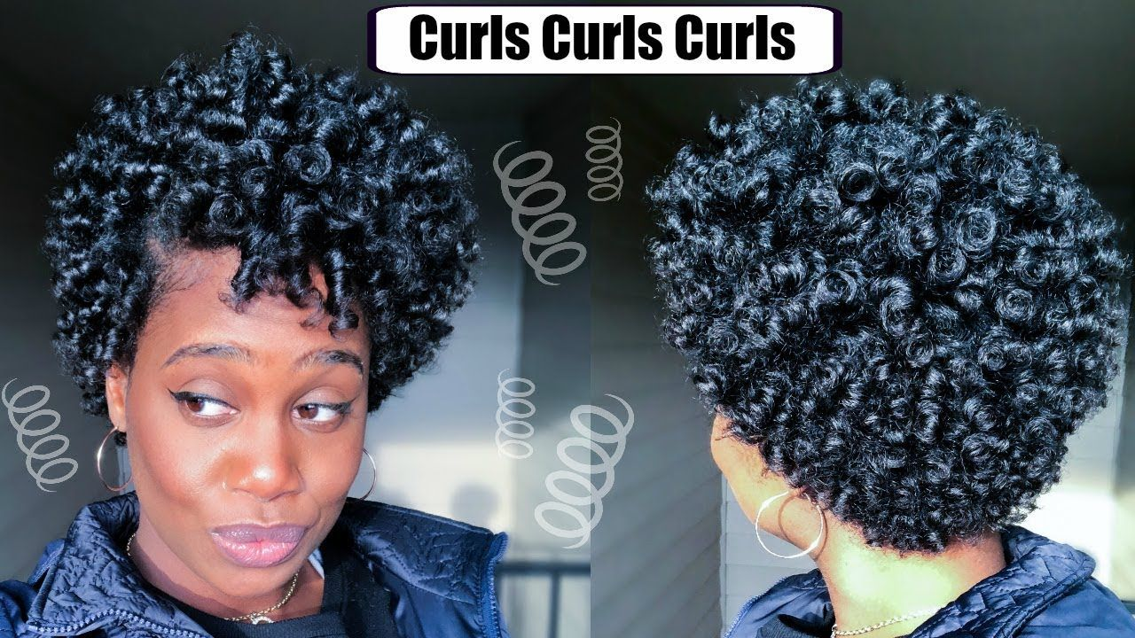 Perm Rod Set On Short Natural Hair Video Natural Hair