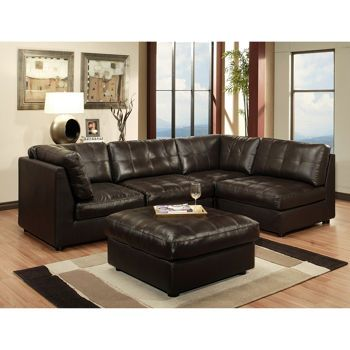 Awe Inspiring Calvin Leather Modular Sectional Via Costco Com Sectional Squirreltailoven Fun Painted Chair Ideas Images Squirreltailovenorg