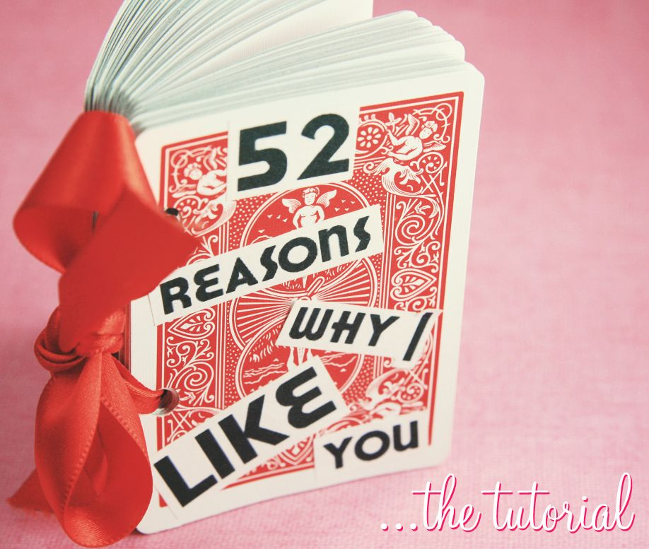 Old Project New Photos The 52 Reasons Card Deck Such A Cute