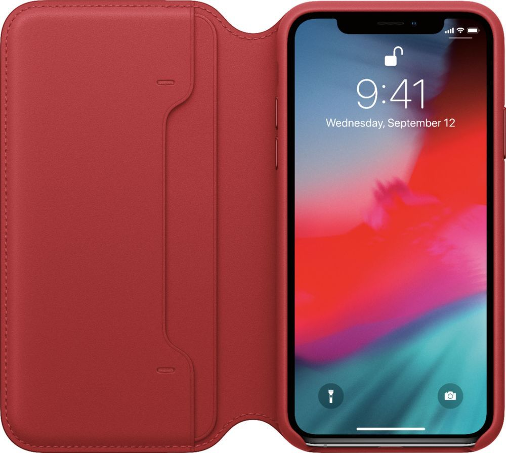 Apple Iphone Xs Leather Folio Product Red Mrwx2zm A Best Buy In 2020 Apple Iphone Iphone Apple Iphone 5s