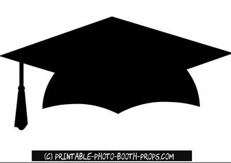 Free Printable Graduation Hat Photo Booth Prop Graduation Photo Booth Graduation Photo Booth Props Photo Booth Props Free Printables