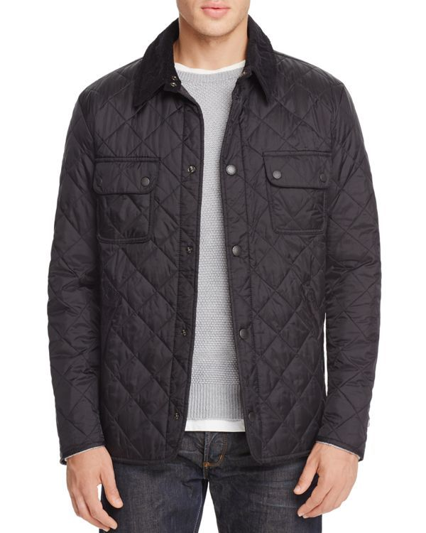 With a corduroy collar and diamond quilting, this Barbour jacket ... : barbour mens quilted jackets - Adamdwight.com