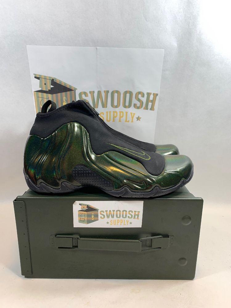 d1343c46235 Nike Air Flightposite Mens Size 8.5 Legion Green Shoes AO9378 300 Black  Garnett  Nike