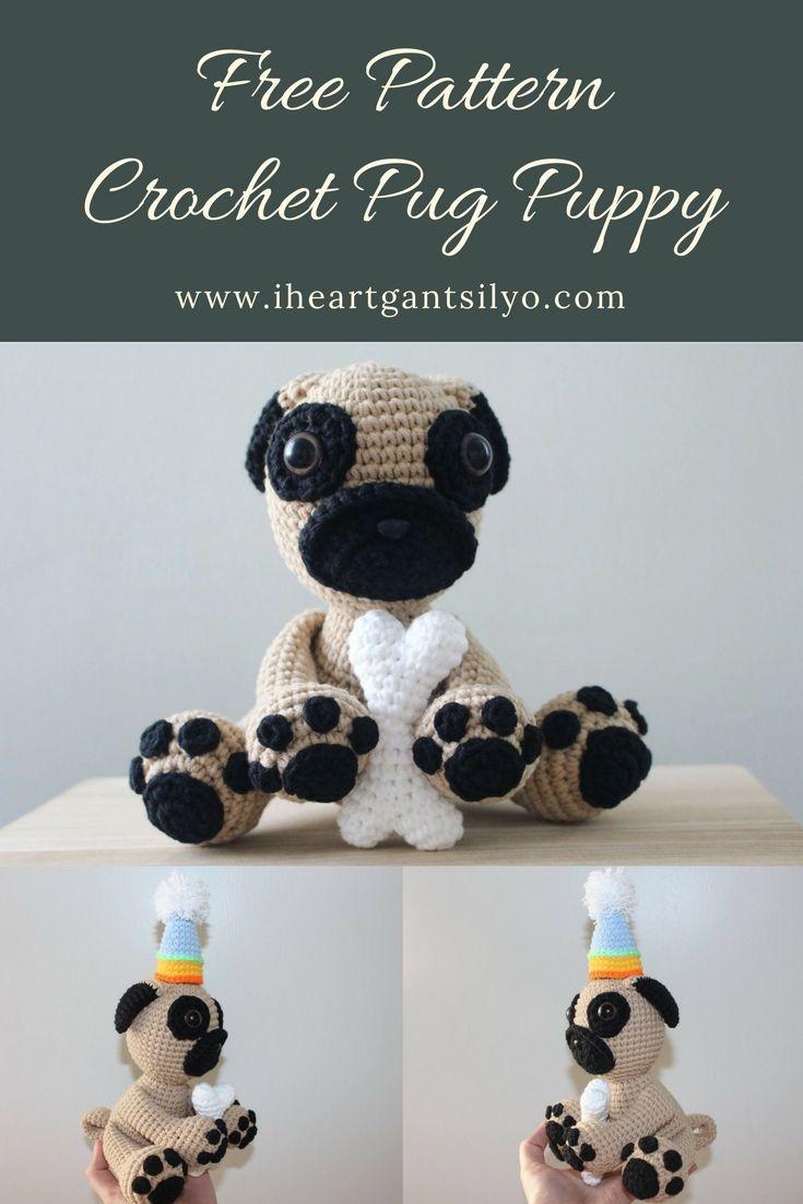 Crochet Pug Puppy | Crochet | Pinterest | Muñecas