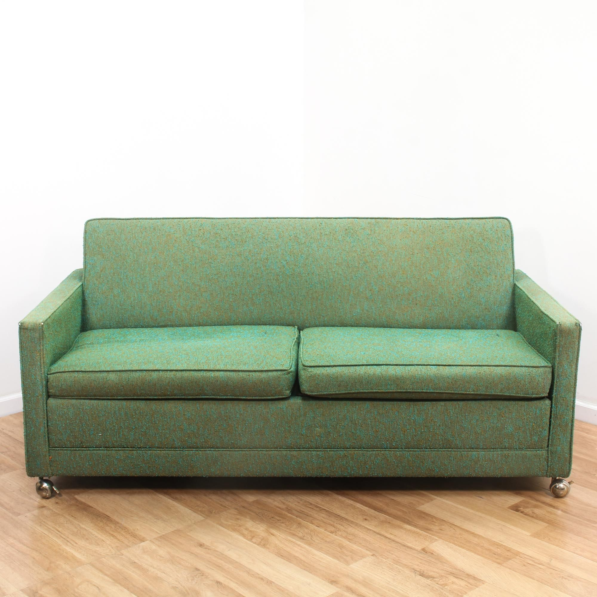 Woven Green Mid Century Modern Sleeper Sofa Modern Sleeper Sofa