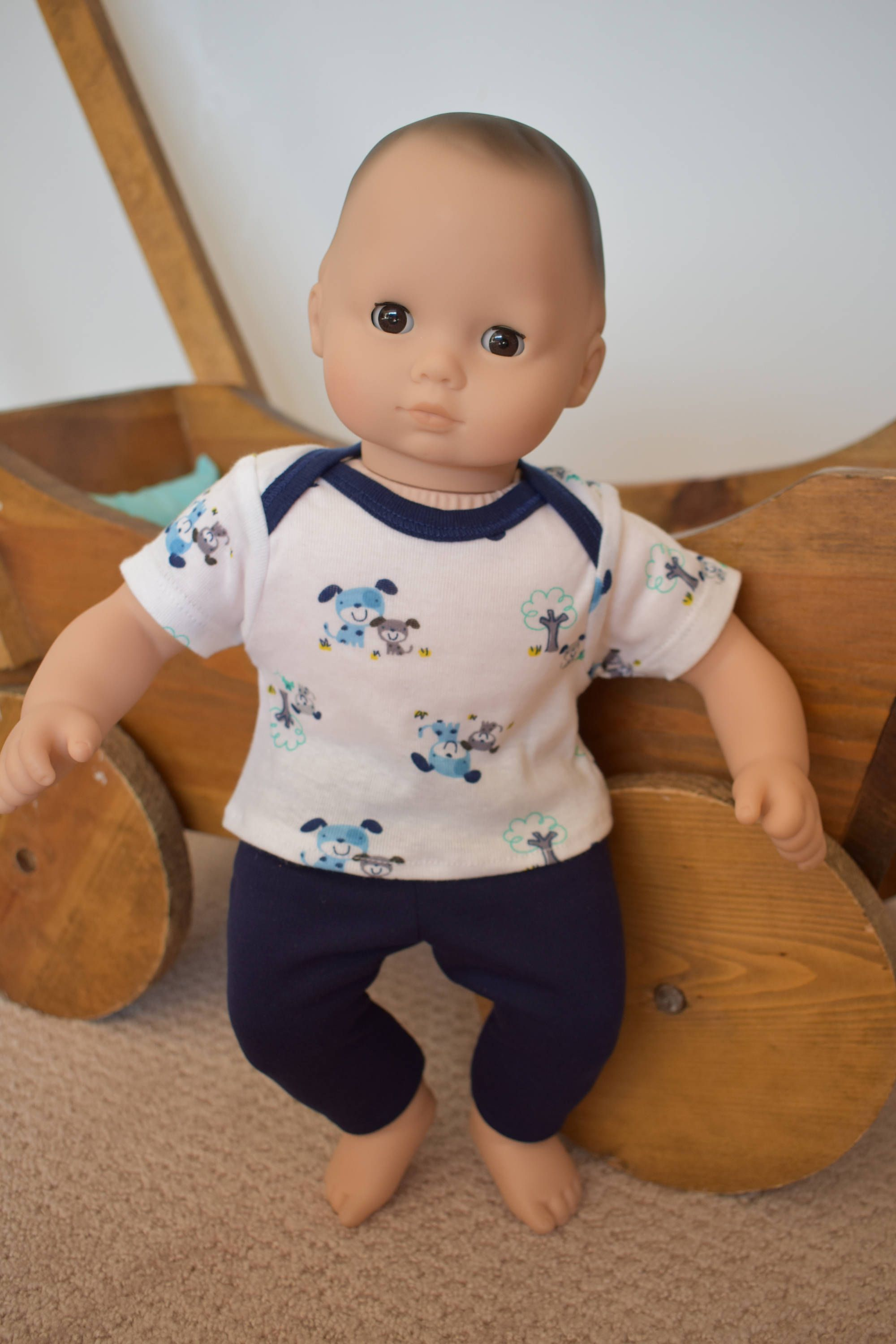 """15"""" Doll Puppy Outfit for American Girl Doll Bitty Baby and Twins"""