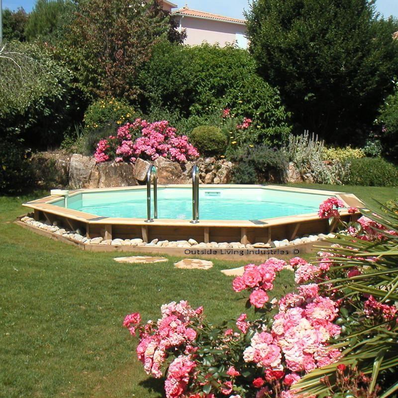 Piscine hors sol bois octogonale d580xh130cm ocea liner - Liner piscine hors sol octogonale ...