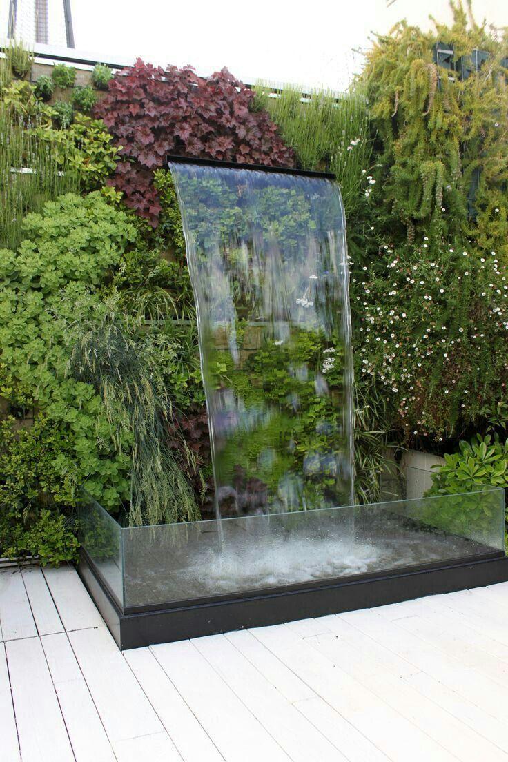 Vertical Water Features Garden Design Water Features In The Garden Diy Garden Fountains Waterfalls Backyard Modern outdoor water fountain