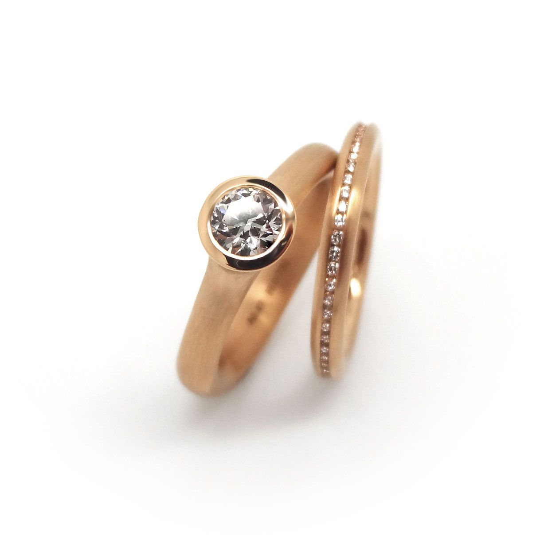 Orro  Henrich & Denzel  Rose Gold & Diamond Rose Gold Engagement  Ringcontemporary