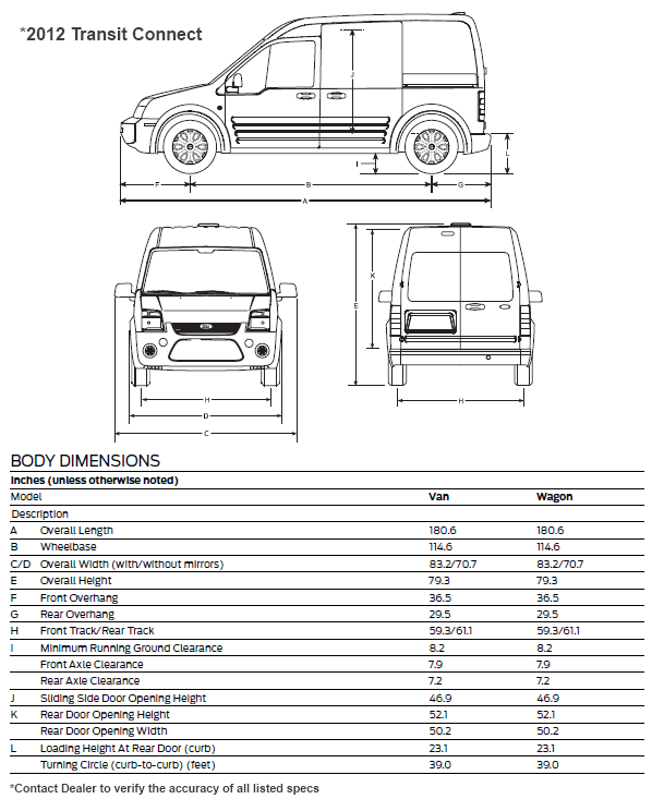 2010 Ford Transit Connect Interior Dimensions Www Napma Net