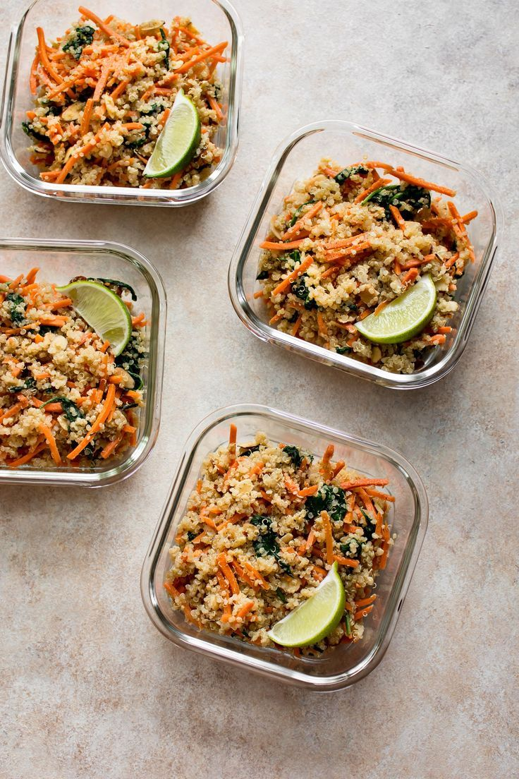 Spinach and Quinoa Vegan Meal Prep Bowls images