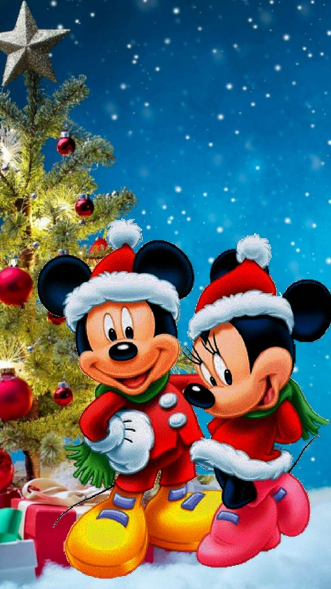 Mickey Minnie Christmas Mickey Mouse Wallpaper Mickey Mouse