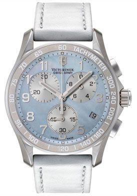 Women's+Classic+Chronograph+White+Leather