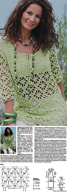 A céu aberto crochet túnica.