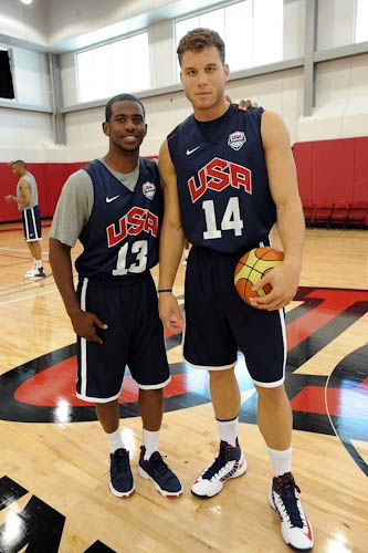 Blake and CP3 at Team USA training camp