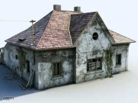 Wood House 3d Model 3ds Max Tga