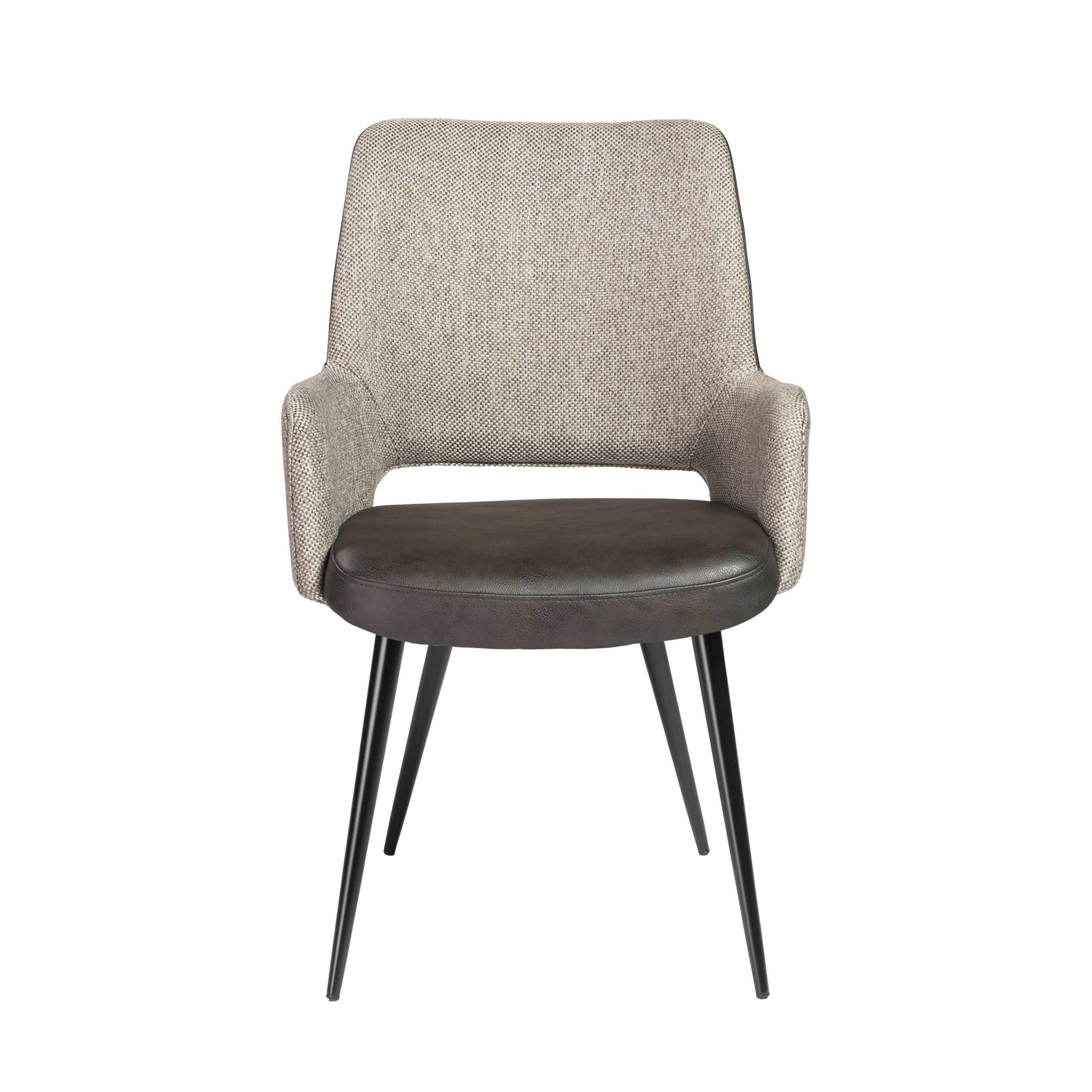 Desi arm chair euro style grey upholstered dining