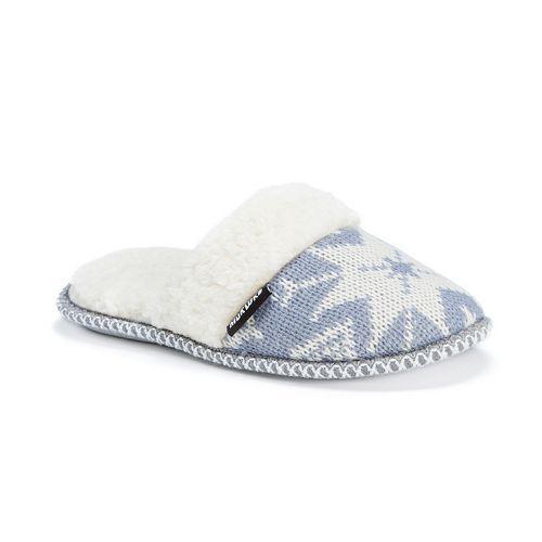 MUK LUKS Women's Knit Scuff Slippers | Slippers | Pinterest ...