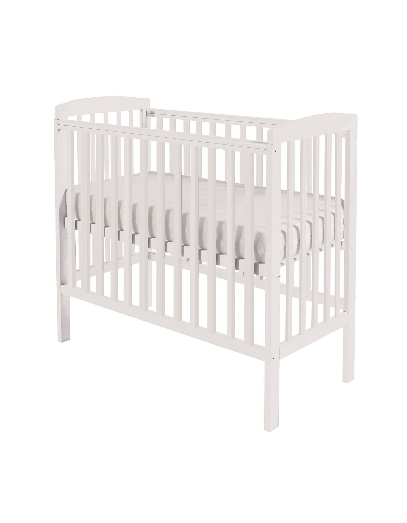 Kinder Valley Kai Compact Cot In White | Nursery Furniture ASDA Direct