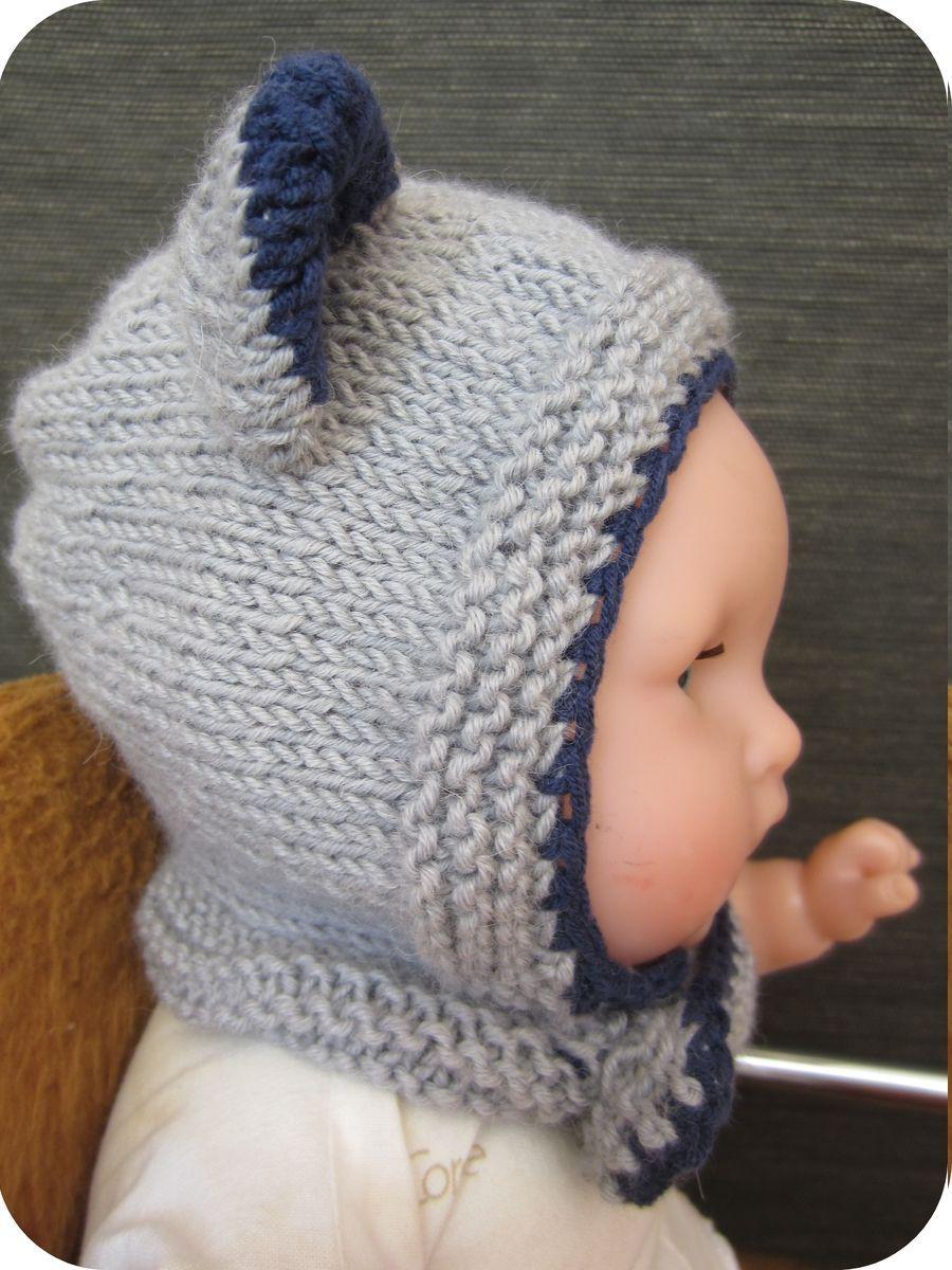 tricoter un bonnet bebe avec oreilles