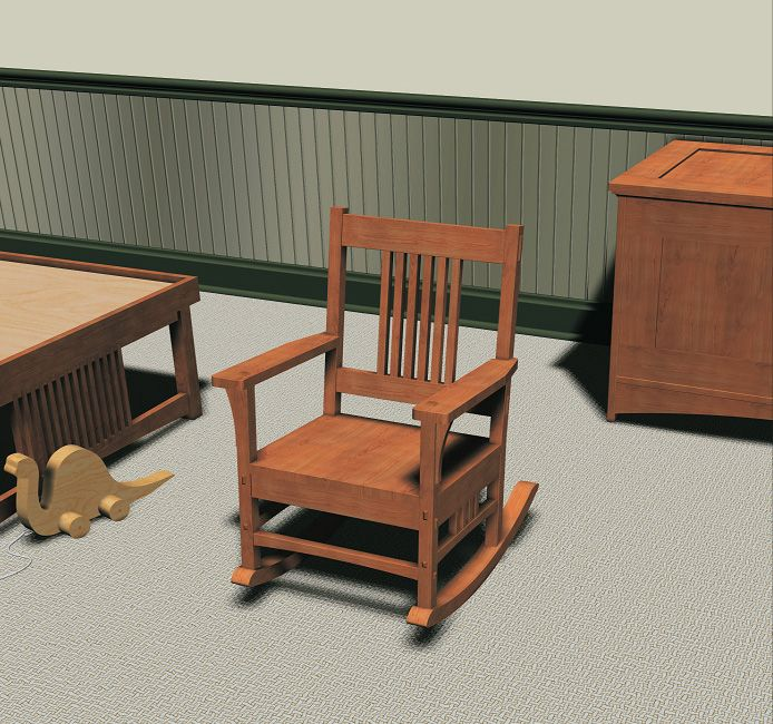 mission style children s rocking chair furniture plans chairs