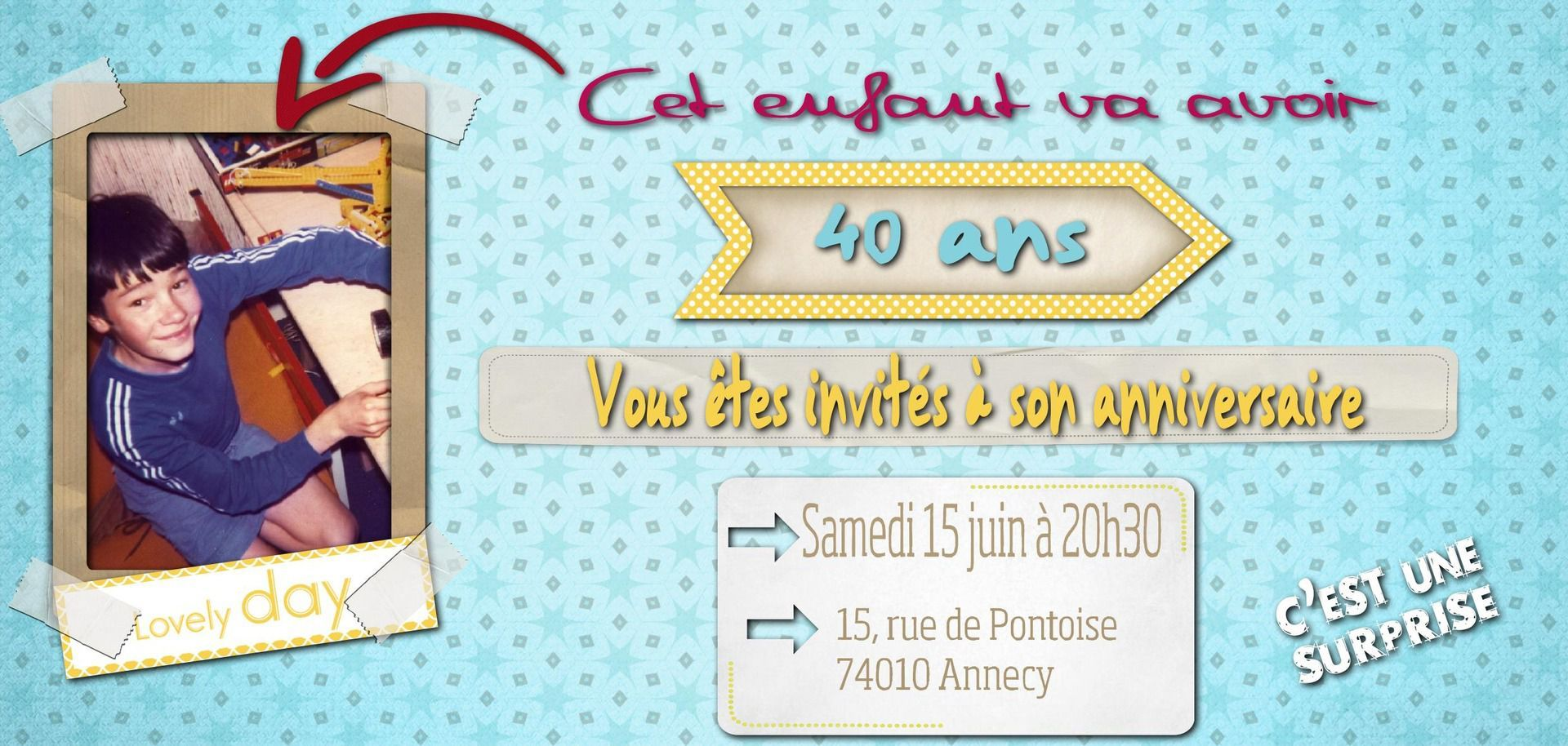 Hervorragend carte invitation anniversaire 40 ans virtuelle gratuite | carte  PO77