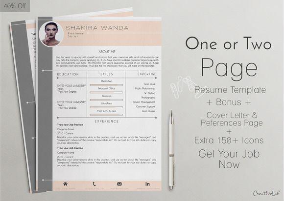 Professional Resume Template  Professional Clear Resume Template