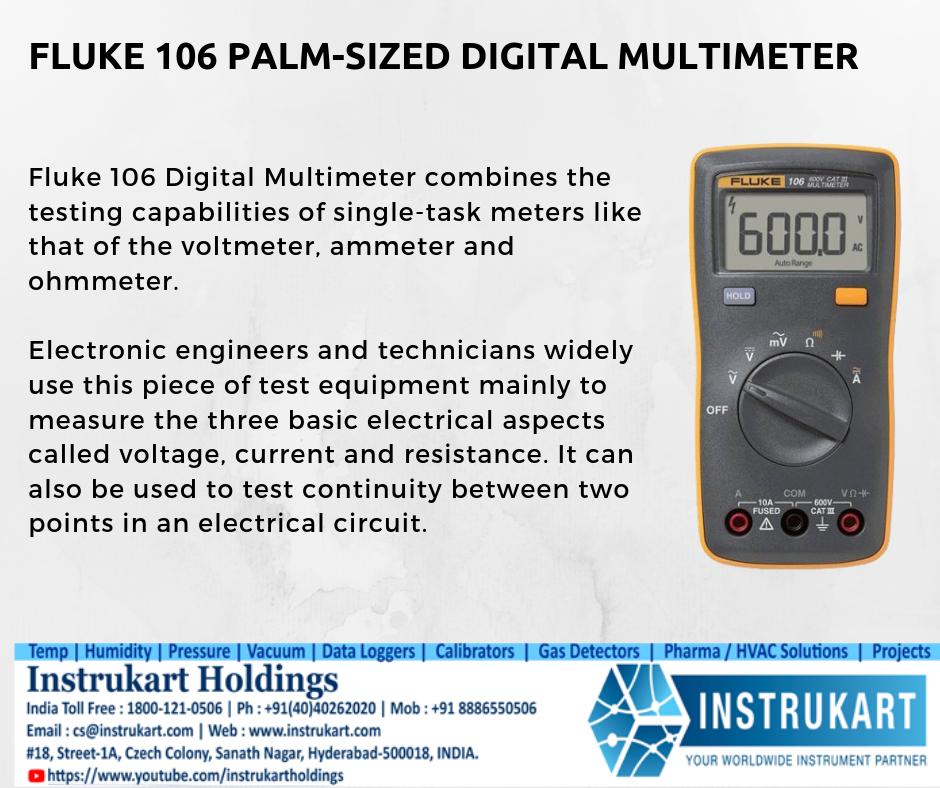 Fluke 106 Digital Multimeter Buy Fluke Digital Multimeter Instrukart Multimeter Electronic Technician Digital