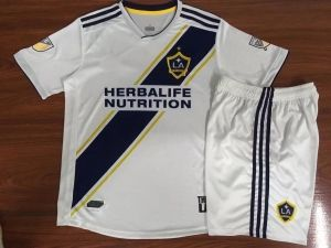 98b3f3687 Cheap football shirts set and soccer jersey set for youth and kid sale  online. 2018-19 Cheap Youth Kit LA Galaxy Home Replica White Suit  BFC978