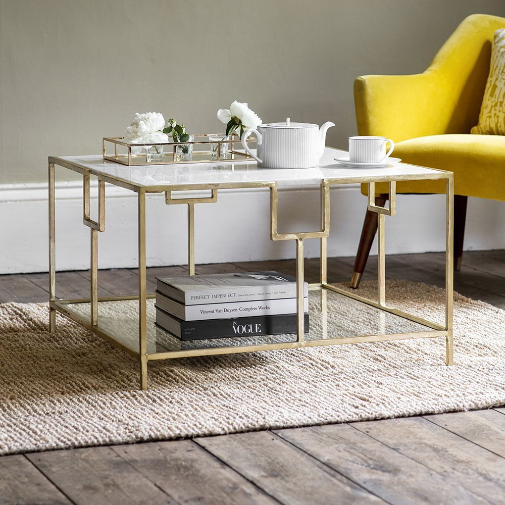 Gatsby Marble Coffee Table Art Deco Coffee Table Art Deco Living Room Table