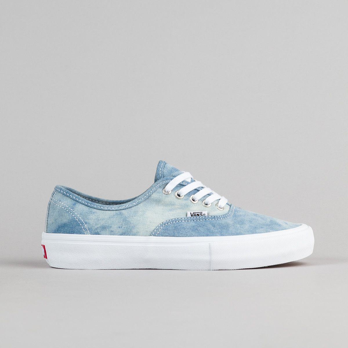 4dba4a4366 Vans Authentic Pro Shoes - Denim   White