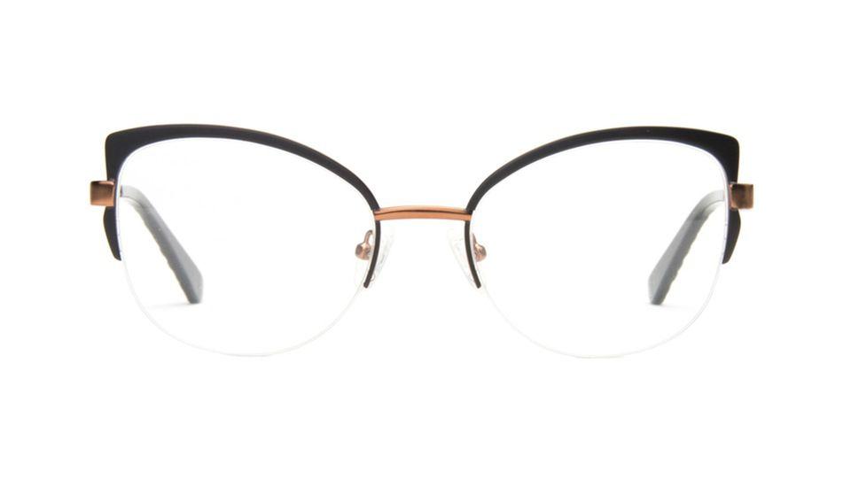a346dc83927 Affordable Fashion Glasses Cat Eye Eyeglasses Women Adore Black Copper  Front Accessoires