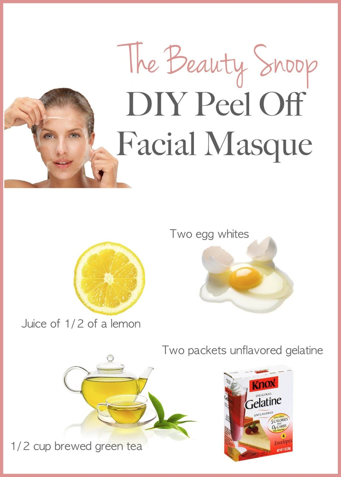 Diy Peel Off Detox Facial Masque Healthy Beautiful Me Pinterest