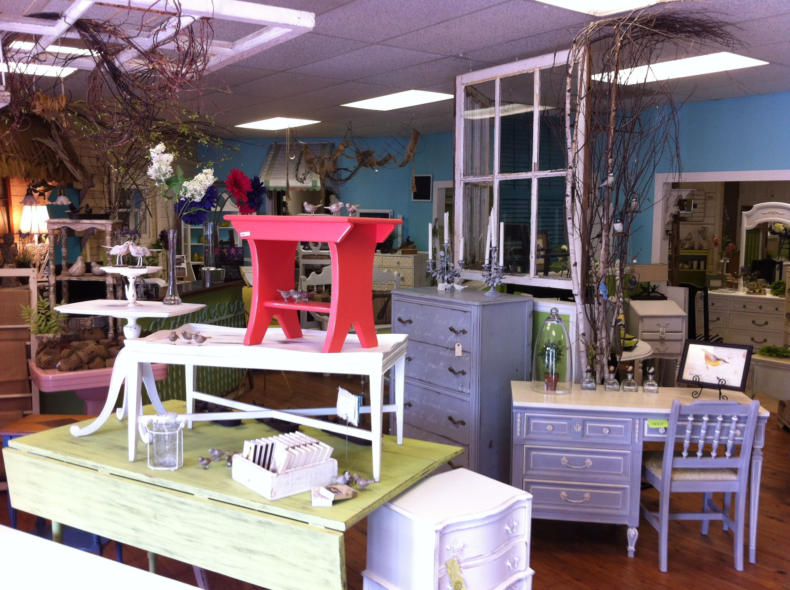 Vintage. Eclectic. New and used. Furniture & gifts. You can RENT wedding goodies! Vases, chalkboards, lanterns, you name it! Lots to choose from Miss Mandy's in Tallahassee, FL.