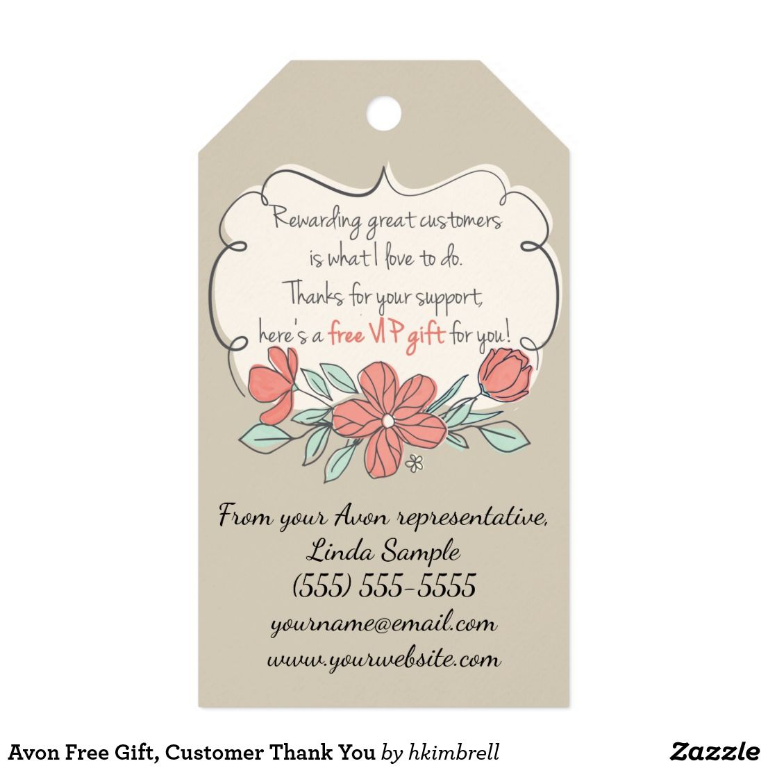 Avon free gift customer thank you gift tags customer for Customer holiday gift ideas