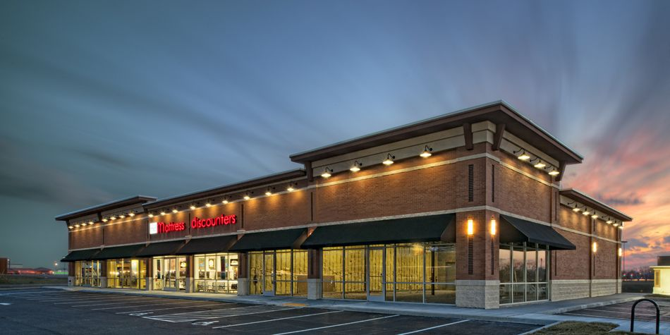 Retail strip centers google search retail architecture for Store building design