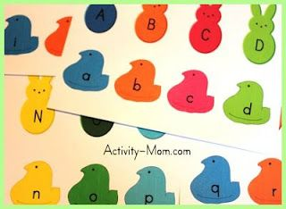 free peeps abc learning printables