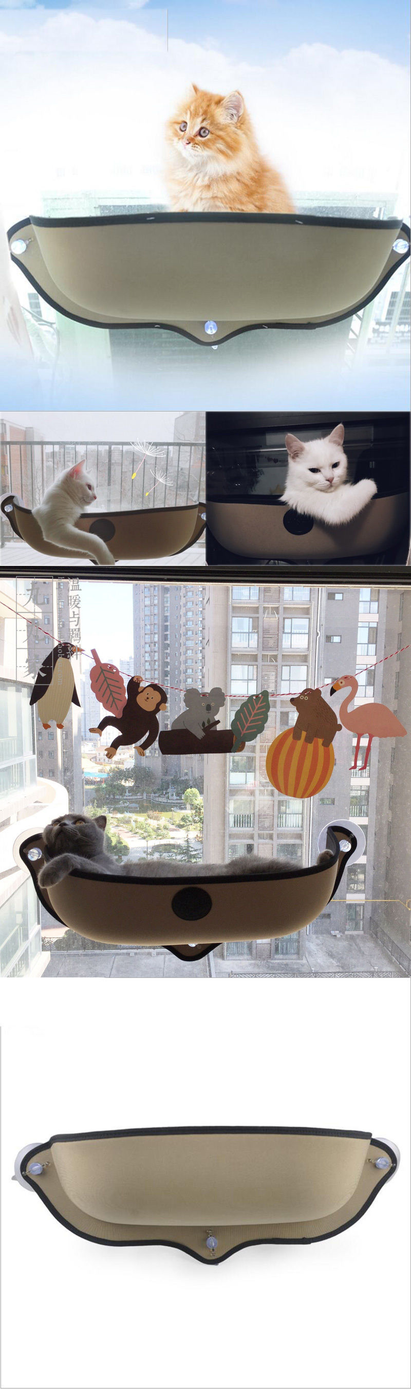 Window bed for cats  beds hammocks and nesters  cat window bed cat lounger bed