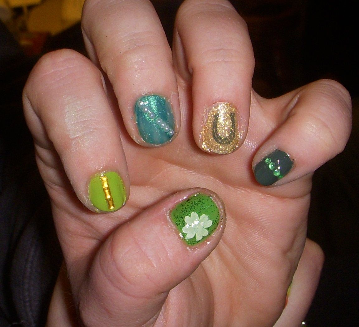 St. Patty\'s Day nails 2 | Lyssie\'s nail art | Pinterest | St pattys
