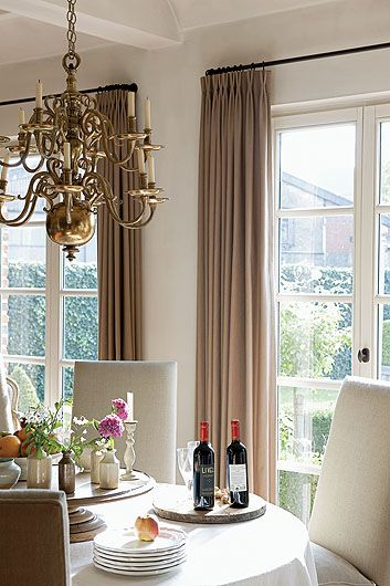 Taupe Mauve Curtain Color With White Wall And Light Greige Upholstery Taupe Walls Taupe Curtains Taupe Drapes