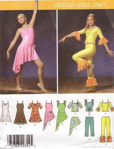 Simplicity 4315 SEWING PATTERN Girl\'s Dance Dress/Costume Ballroom ...