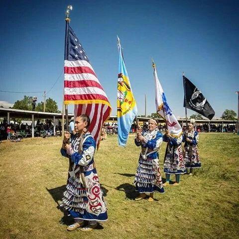 Native American Women Color Guard