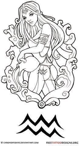 200d5232796df 35 Cool Aquarius Tattoo Designs Sign Tattoos Free Download ...