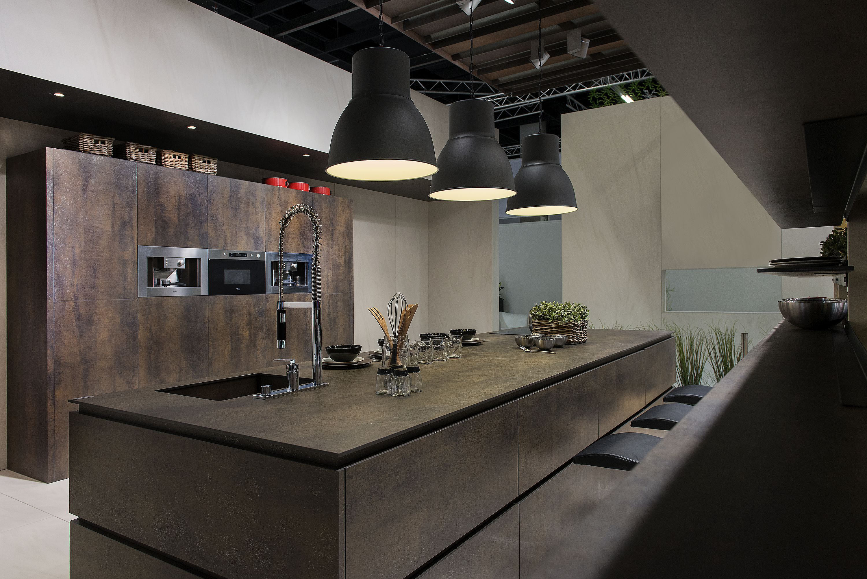 Cladding And Countertops Of Neolith Iron Moss Model 100 Natural