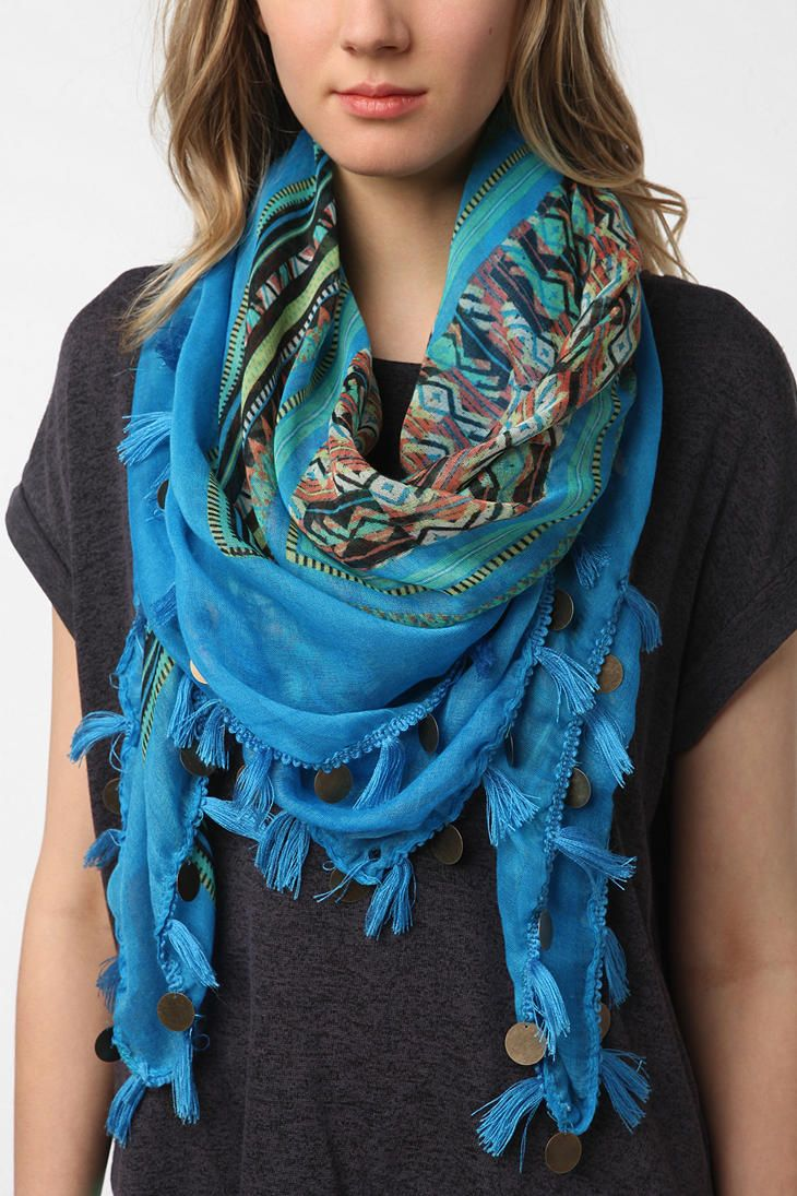 Urban Outfitters Deena /& Ozzy Embellished Bandana Hair Wrap NEW