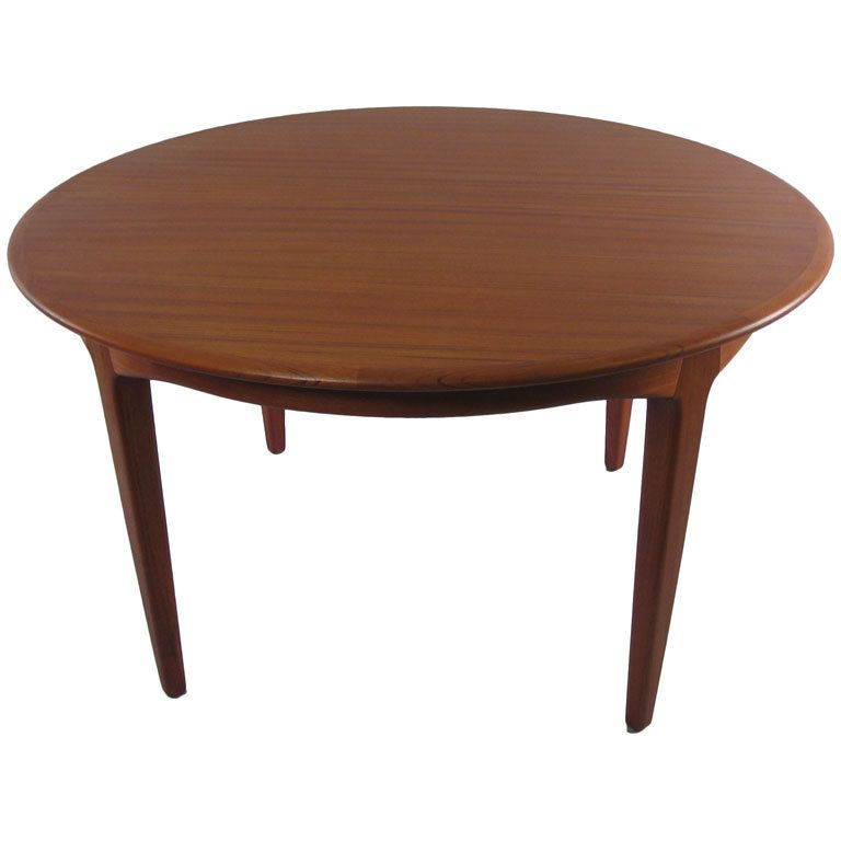 1stdibs danish modern round teak extension dining table by soro stole explore items from